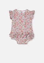 Cotton On - Alice ruffle bubbysuit - vanilla/garden floral