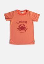 Sticky Fudge - Boys clawsome tee - orange