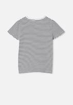 Cotton On - Penelope short sleeve tee - navy blazer stripe/linework floral