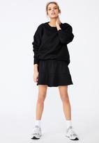 Factorie - Fleece tiered skirt - black