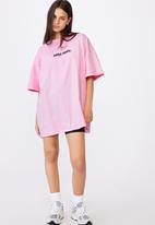 Factorie - Graphic T-shirt dress - pink