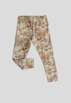 Sticky Fudge - Quilted floral leggings - multi