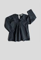 Sticky Fudge - Long sleeve pintuck blouse - deep teal
