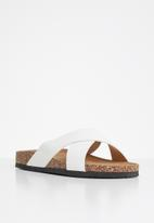 Jada - Criss-cross slide - white