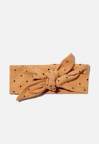 Cotton On - The tie headband - joy spot apricot sun/navy blazer