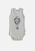 Sticky Fudge - Sleeveless octopus onesie - grey