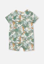 Cotton On - The short sleeve romper - vanilla/jungle birds
