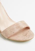 Jada - Big buckle heel - dusty pink