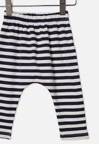 Cotton On - The legging -stripe navy blazer/vanilla