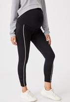Cotton On - Maternity love you a latte 7/8 tight - black