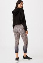 Cotton On - Maternity love you a latte 7/8 tight - animal ombre