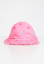 POP CANDY - Tropical frill beach sunhat - pink