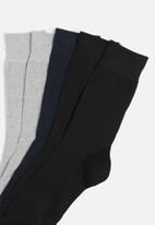 Superbalist - Plain 5 pack socks - multi
