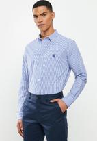 Pringle of Scotland - Devin long sleeve styled shirt - blue