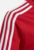 adidas Originals - Essentials 3 stripe tee - red & white