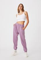 Cotton On - High waist track pant - celestial blue garment pigment dye