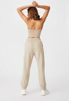 Cotton On - High waist track pant - infinity garment pigment dye