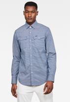 G-Star RAW - 3301 Slim long sleeve shirt - blue