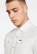 G-Star RAW - Arc 3d slim long sleeve shirt - white