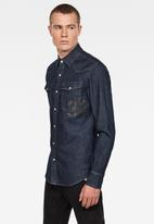 G-Star RAW - 3301 Slim long sleeve shirt - blue