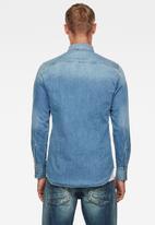G-Star RAW - Slim denim long sleeve shirt - blue