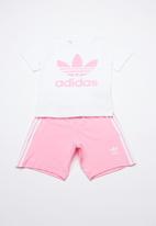 adidas Originals - Short tee set -  white & pink