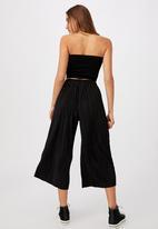Cotton On - Poppy pleated pant - black