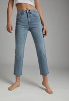 Cotton On - Straight stretch jean - aireys blue