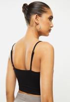 Blake - Cami knot front bralette - black