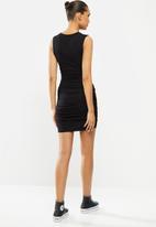 Blake - Ruched bodycon mini dress - black
