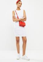 Blake - Ruched bodycon mini dress - white