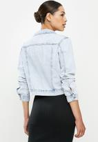 Cotton On - Girlfriend denim jacket - burleigh blue
