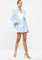 Sissy Boy - Girl boss: fashion blazer with puffy sleeve - soft blue