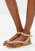 Superbalist - Siera leather ankle strap sandal - neutral