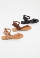 Superbalist - Siera leather ankle strap sandal - black