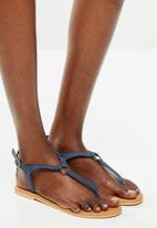edit - Khanyi leather T-bar sandal  - navy