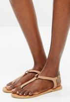 edit - Khanyi leather T-bar sandal - neutral