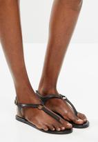 edit - Khanyi leather T-bar sandal - black