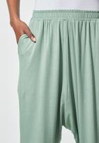Superbalist - Knit drop crotch jogger - sage
