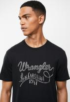 Wrangler - Wrangler carolina tee - black