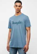 Wrangler - Classic tee - copen blue