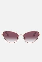 Vogue - Vogue cat eye sunglasses - clear gradient violet