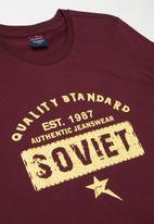 SOVIET - Boys gambino - burgundy