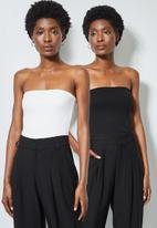 Superbalist - 2 Pack boobtube tops - black & white