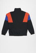 Converse - Cnvb woven colorblock half zip - black
