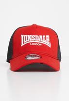 Lonsdale - Peak cap - red & black