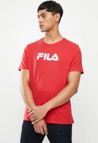 FILA - Mono deckle T-shirt - red