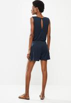 Jacqueline de Yong - Dodo sleeveless playsuit - navy