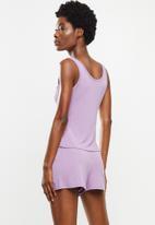 Superbalist - Sleep vest & shorts set - purple
