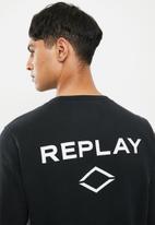 Replay - Replay crew sweat-black